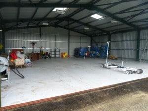 Cauldwell -helicopter hangar floor