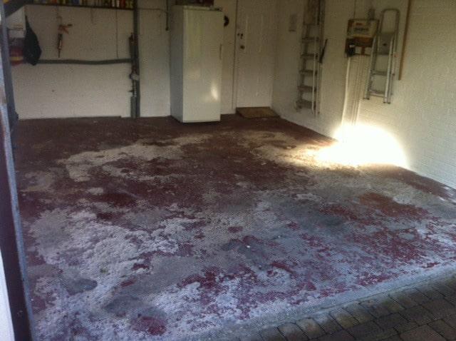Bare Concrete Flooring : Garage polymer floor cheshire resin flooring