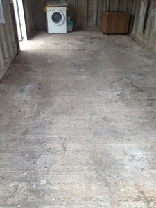 domestic garage floor 4 - before