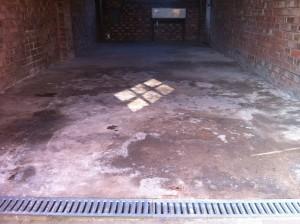 domestic garage floor 3 - before