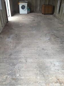 domestic garage floor 4 - before